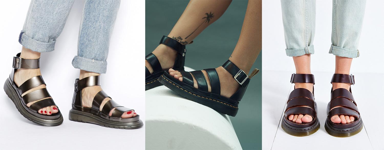 Sandales Dr Martens portées (3 photos)