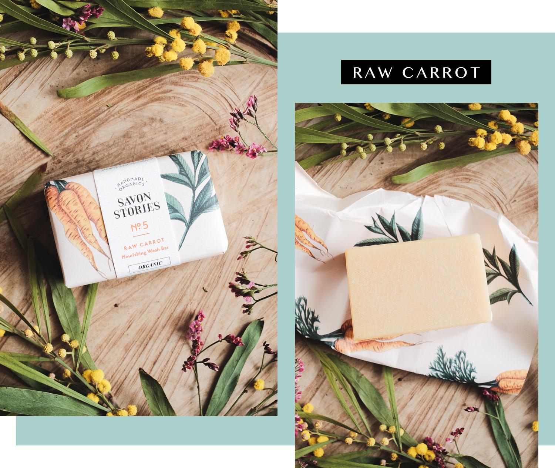 Cosmétiques vegan Savon Stories - Raw Carrot N°5