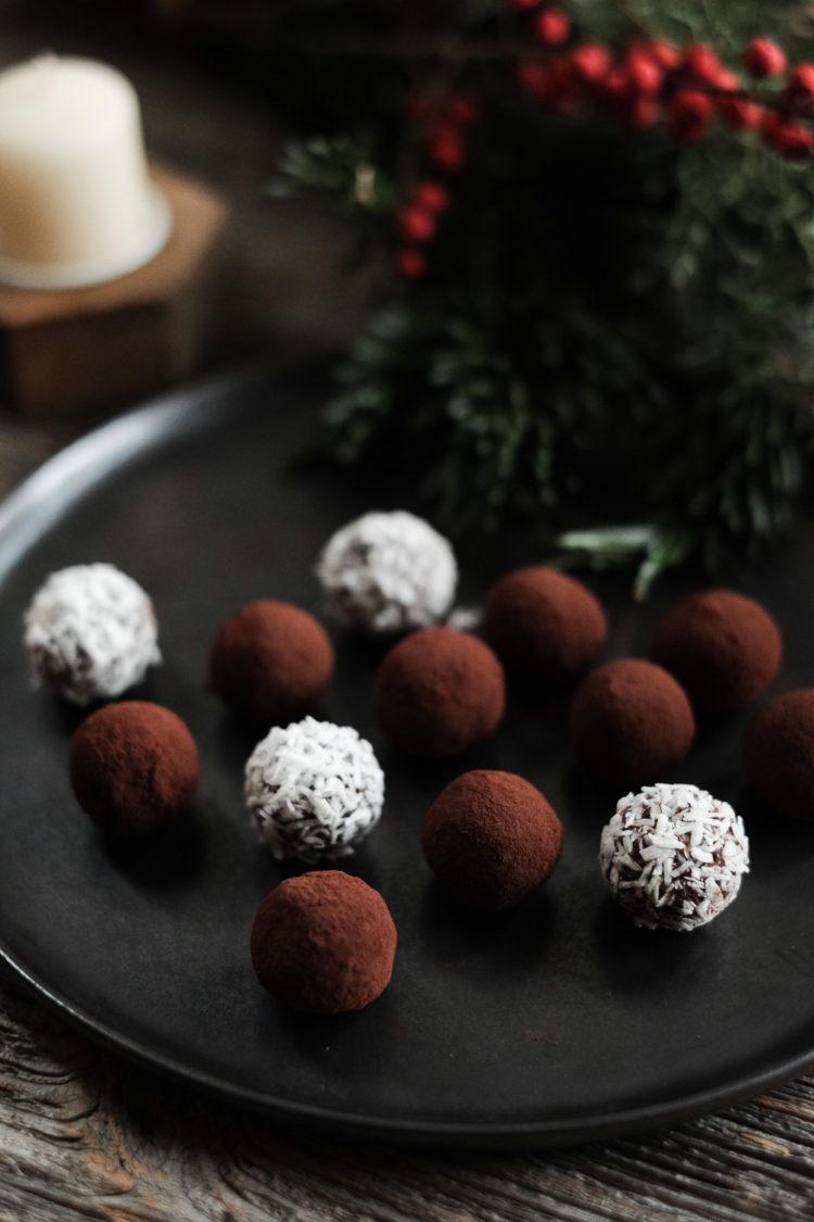 Truffes véganes au chocolat